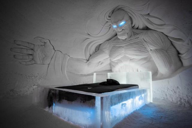 En collaboration avec HBO Nordic, le Snow Village... (photo tirée du site de l'hôtel)