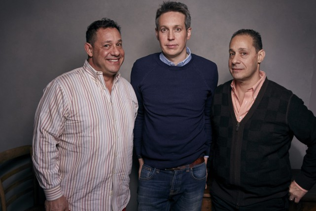 Deux des trois triplés, David Kellman à gauche... (Photo AP)