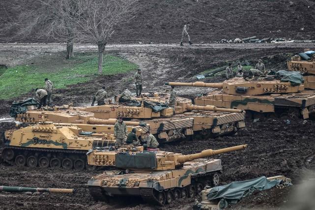 Les frappes de l'armée turque (photo) de mercredi... (AFP)