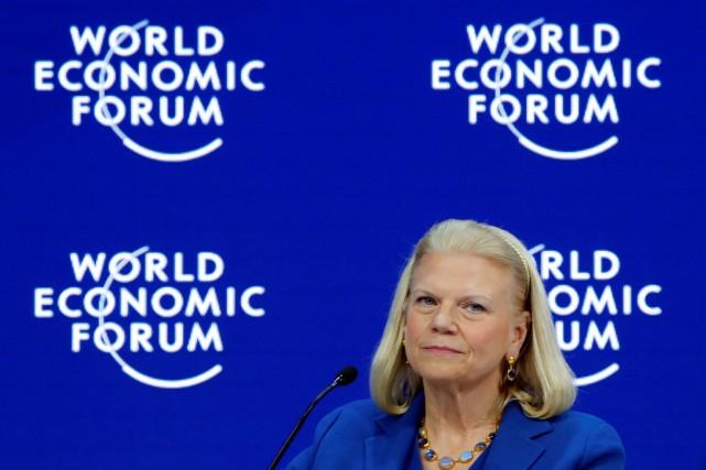 Ginni Rometty, présidente d'IBM, a admis que «100%... (PHOTO REUTERS)