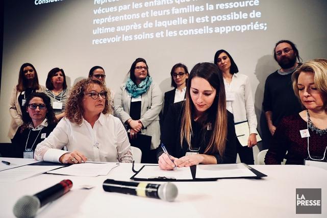 «Je suis entourée de femmes, de mères, je... (Photo Martin Chamberland, La Presse)
