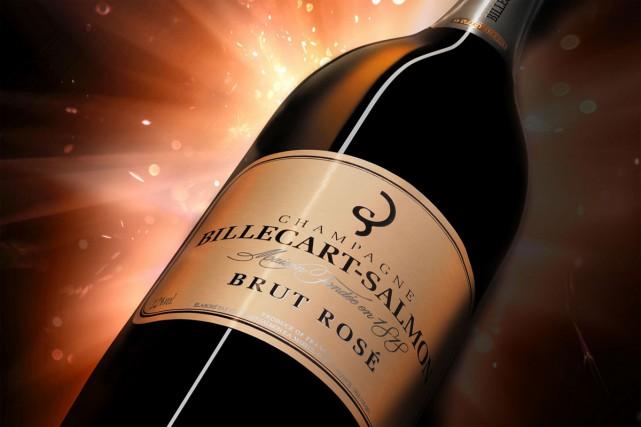 Le champagne, via la maison Billecart-Salmon, a remporté une victoire... (CAPTURE D'ÉCRAN)