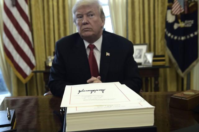 Le président américain Donald Trump.... (Photo Brendan SMIALOWSKI, AFP)