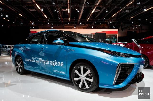 La Toyota Mirai est la première voiture à... (HUGO-SEBASTIEN AUBERT, LA PRESSE)
