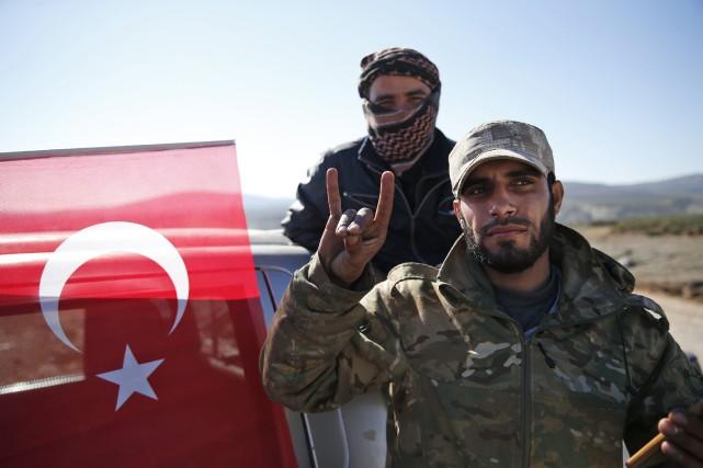Depuis le 20 janvier, la Turquie mène une... (AP)