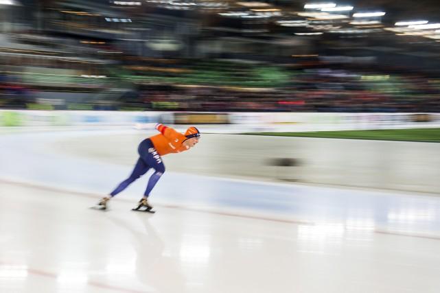 Sven Kramer... (Photo Fredrik Varfjell, NTB scanpix via AP)