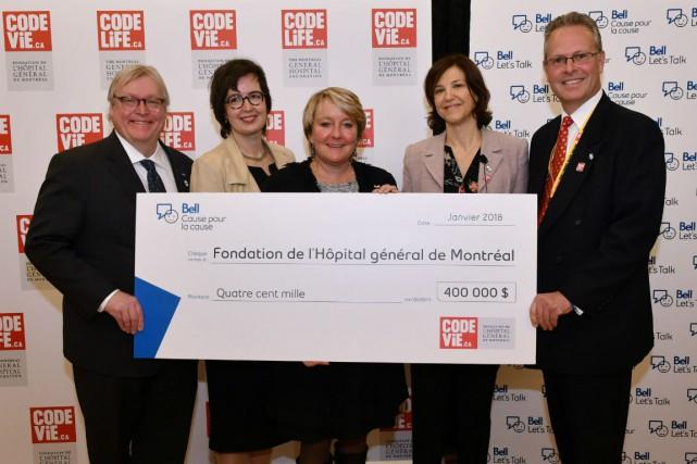De gauche à droite :Gaétan Barrette, Martine Alfonso,... (Photo fournie par la Fondation)