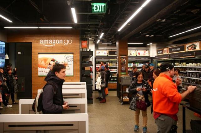 Le premierAmazon Go, un supermarché où l'on ne... (PhotoLindsey Wasson, Reuters)