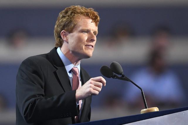 Joe Kennedy III a présentéla réponse démocrate au... (PHOTO Mark J. Terrill, AP)