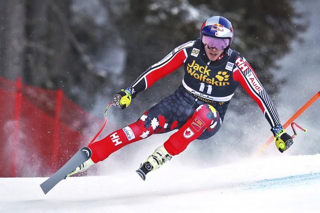 ErikGuay lors d'une compétition à Val Gardena, en... (Photo Marco Trovati, archives AP)