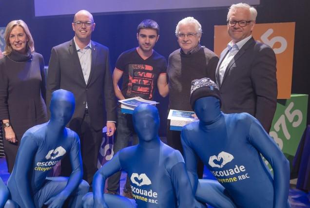France Desmarais, Jean-Francois Prince, George Chabo, Paul Gaudreau... (Photo fournie par la RBC)