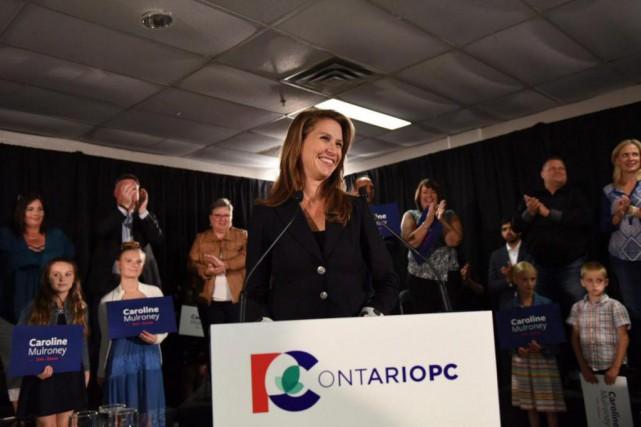 Caroline Mulroney, lors d'un discours en septembre dernier... (PhotoCaroline Mulroney Campaign, La Presse canadienne)