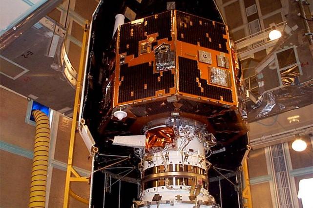 Lesatellite IMAGE, photographié en 2000 avant son lancement.... (PHOTO NASA)