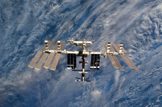 La Station spatiale internationale (ISS), photographiée en 2011.... (NASA VIA AFP)
