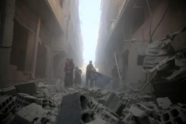 Les bombardements les plus meurtriers ont eu lieu... (AFP)