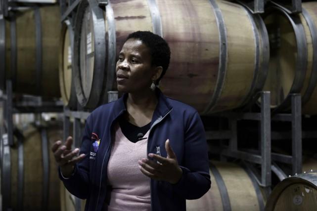 Ntsiki Biyela a accédé à la célébrité en... (Photo AFP)