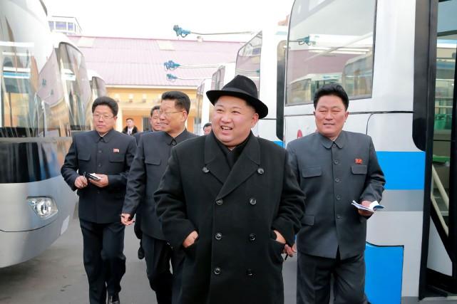 Le leader nord-coréen Kim Jong-un... (PHOTO AGENCE KCNA)