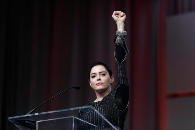 Figure emblématique du mouvement #metoo, l'actrice Rose McGowan... (photo Paul Sancya, archives associated press)