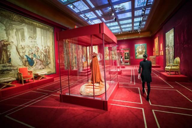 La salle du Trôneaménagée au Musée des beaux-arts... (Photo Marco Campanozzi, La Presse)
