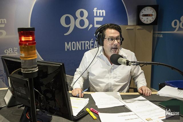 Bernard Drainville, au 98.5 FM.... (ROBERT SKINNER, ARCHIVES LA PRESSE)