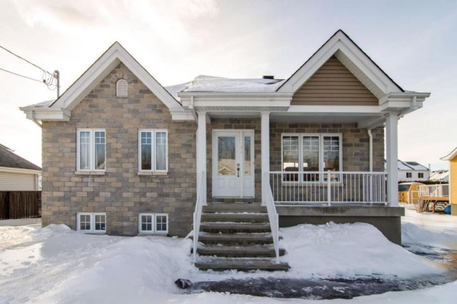 La maison occupe un terrain de 7400pi2 à... (Photo fournie par Centris)