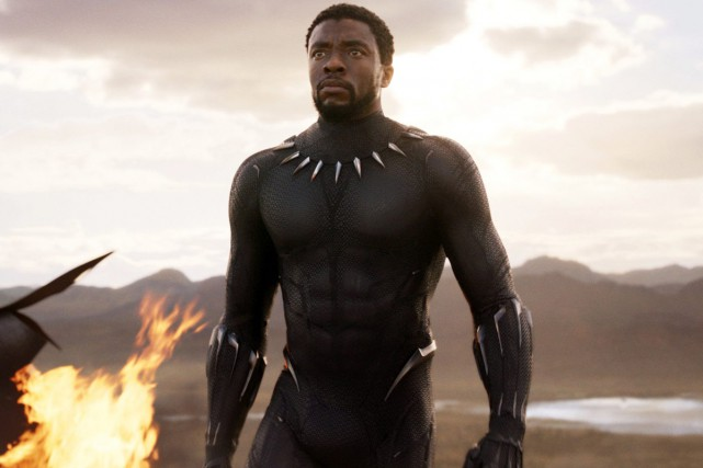 Chadwick Boseman dans une scène de Black Panther... (Photo fournie par Marvel Studios)
