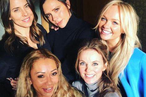 Cette photo des Spice Girls réunies a été... (Photo tirée du compte Instagram d'Emma Bunton)