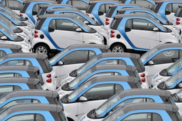Les véhicules en libre-service sont archipopulaires à Montréal,... (photo archives Bloomberg)