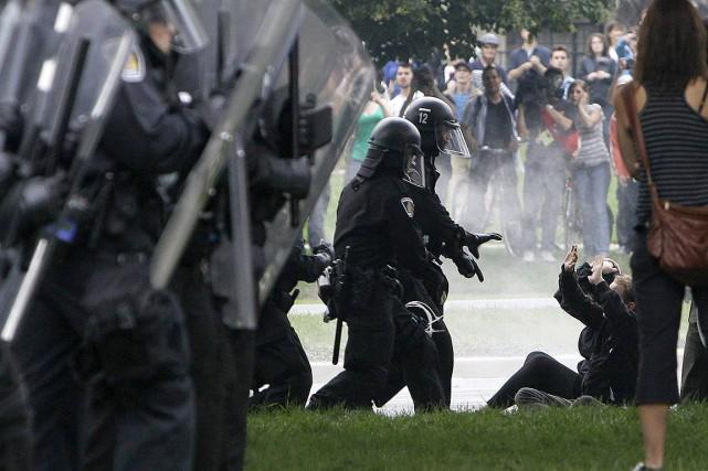 Sur cette photo prise lors du G20, le... (Gerry Broome, archives AP)