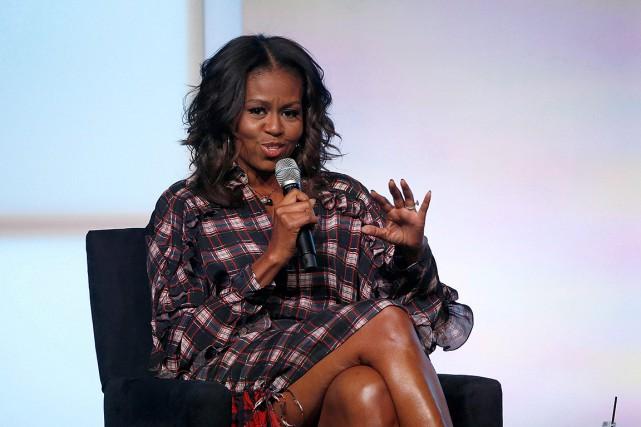 Michelle Obama, en novembre 2017, à Chicago.... (Charles Rex Arbogast, archives AP)