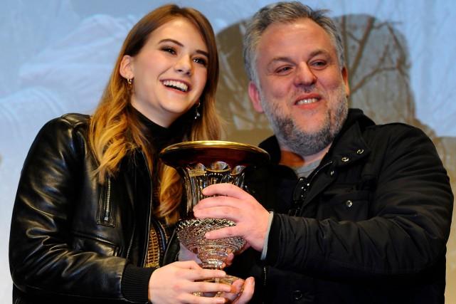 L'actrice Emilia Jones et le réalisateur Pascal Laugier... (Photo AFP)