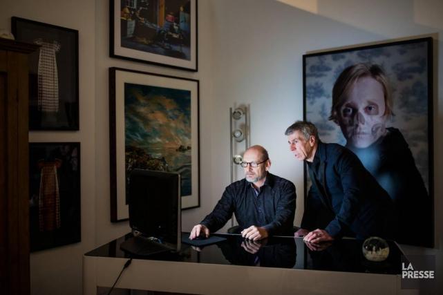 Rhéal Olivier Lanthier et François St-Jacques, directeurs et... (Photo Edouard Plante-Fréchette, La Presse)