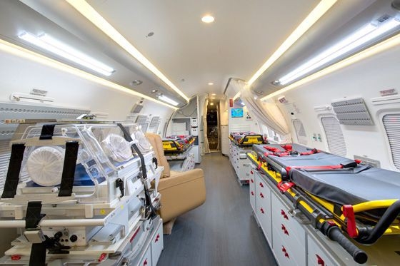 L'avion-hôpital qui dessert les communautés éloignées ou isolées... (Photo tirée du site internet du gouvernement du Québec)