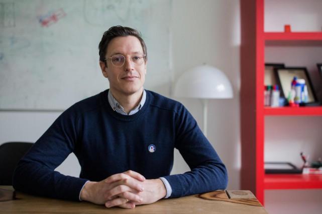 FrédéricGauthier, cofondateur de la maison d'édition La Pastèque... (Photo Edouard Plante-Fréchette, Archives La Presse)