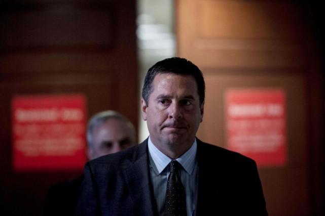 Le républicain Devin Nunes, président de la commission... (PhotoBrendan Smialowski, Archives Agence France-Presse)