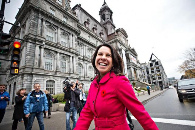 La mairesse de Montréal Valérie Plante à son... (Photo PatrickSanfaçon, Archives La Presse)