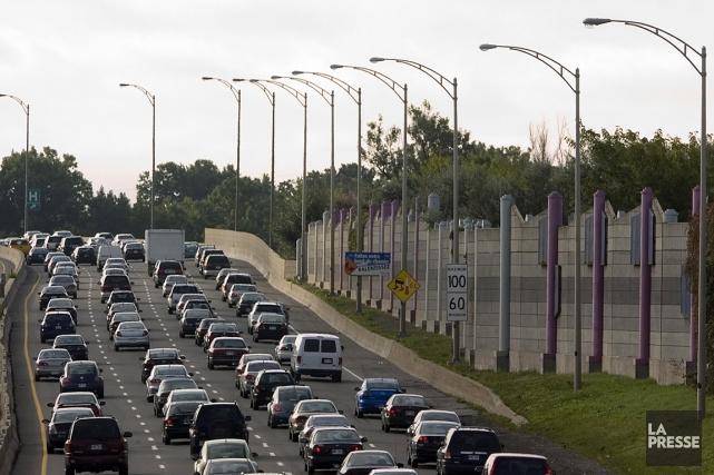 Sur cette photo, des automobilistes prennent leur mal... (Ivanoh Demers, archives La Presse)