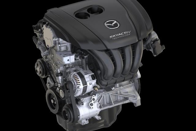 Un moteur Mazda Skyactiv-X.... (photo : Mazda)