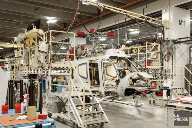 Les hélicoptères sont construits dans une usine de... (Photo archives La Presse)