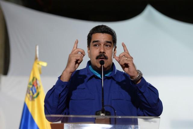 Le président vénézuélien Nicolas Maduro... (PHOTO FEDERICO PARRA, ARCHIVES AFP)
