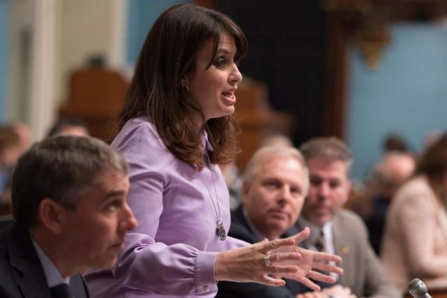 La nouvelle vice-cheffe du Parti québécois Véronique Hivon... (PhotoJacques Boissinot, La Presse canadienne)