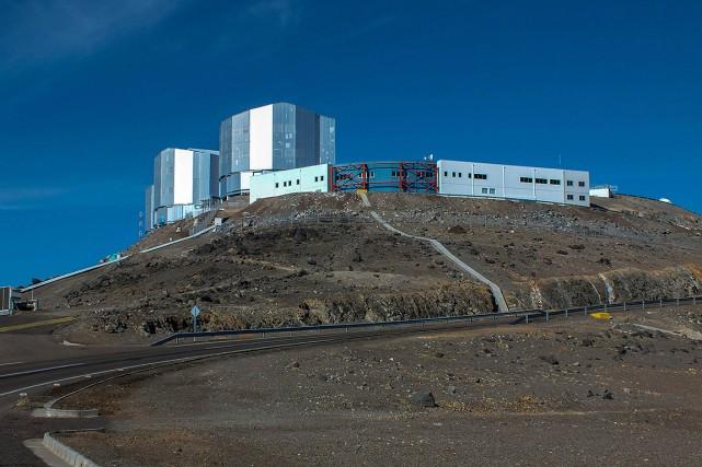 Vue générale de l'observatoire à Paranal.... (Miguel SANCHEZ, ARCHIVES AFP)