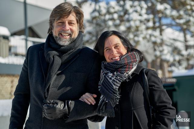 Luc Ferrandez et Valérie Plante sontarrivés bras dessus,... (Photo André Pichette, archives La Presse)