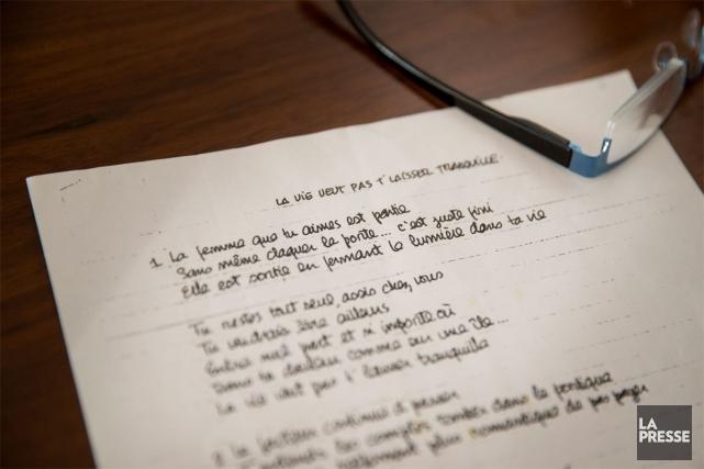 Ce texte, écrit vers 1975, a été retrouvé... (Photo Marco CAMPANOZZI, LA PRESSE)