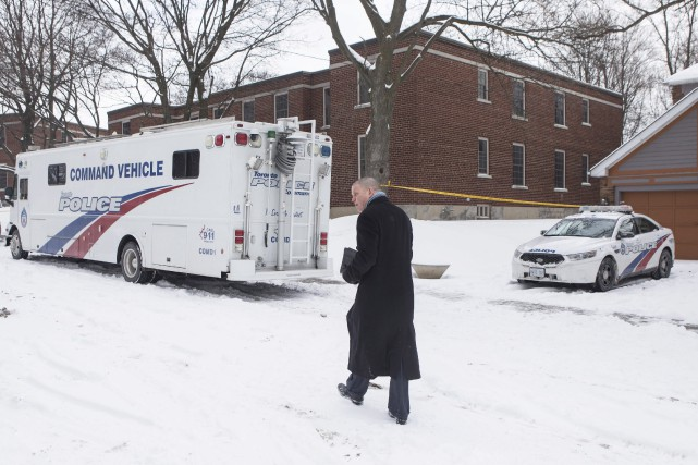 La police de Toronto a dressé son nouveau... (Photo Chris Young, PC)