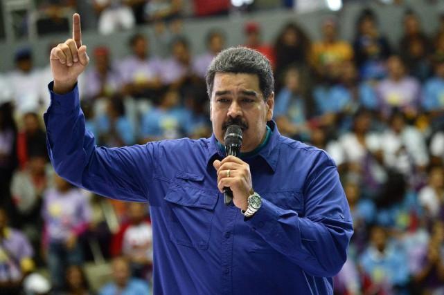Nicolas Maduro... (Photo FEDERICO PARRA, Agence France-Presse)