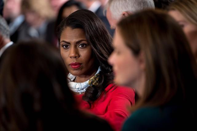 Avant d'être embauchée à la Maison-Blanche, Omarosa Manigault... (PHOTO Brendan Smialowski, ARCHIVES AFP)