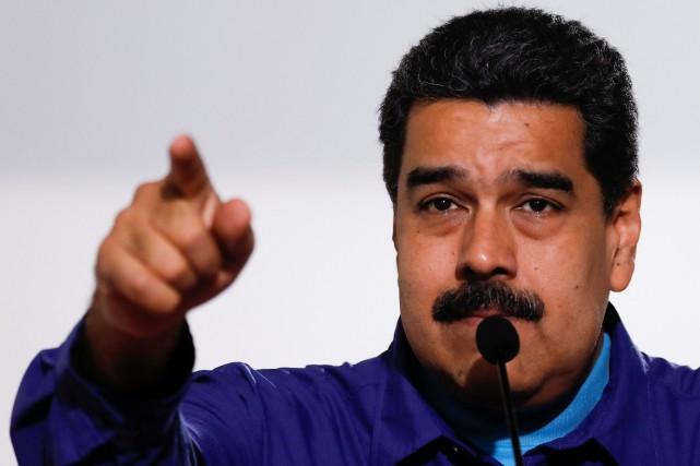Le président vénézuélien Nicolas Maduro... (PHOTO Marco Bello, REUTERS)