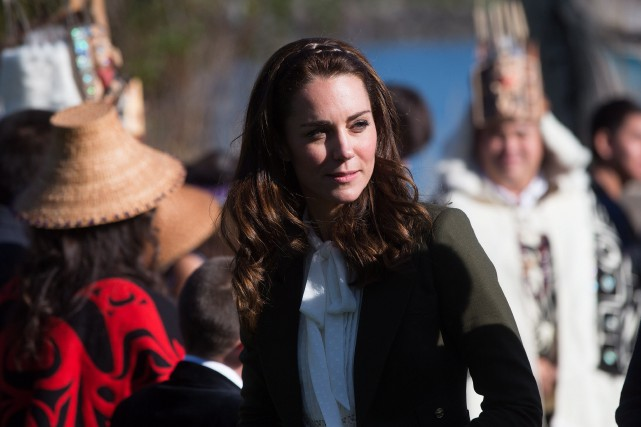 La Duchesse de Cambridge, Kate Middleton.... (Photo Darryl Dyck, La Presse canadienne)