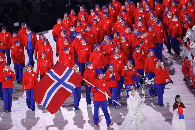 Pour la délégation norvégienne composée de 121 personnes,... (Kim Kyung-Hoon, REUTERS)